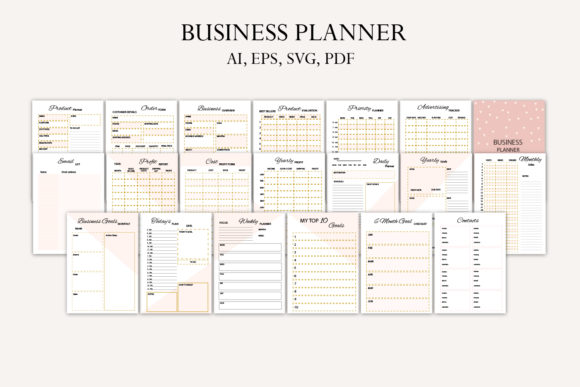 Business Planner Graphic Print Templates By Igraphic Studio