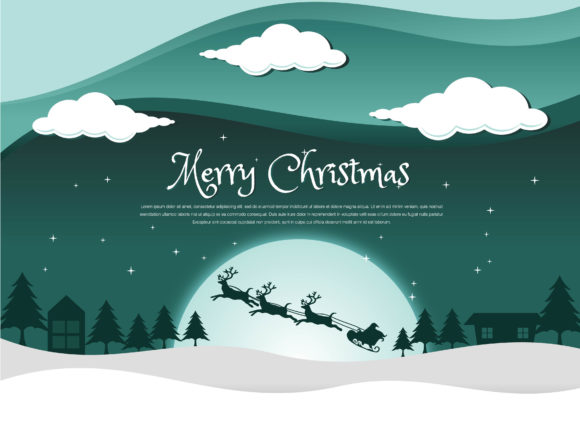 Print on Demand: Christmas Beautiful Night Graphic Illustrations By edywiyonopp