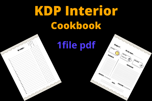 Print on Demand: Cookbook Graphic KDP Interiors By Dunkyshot