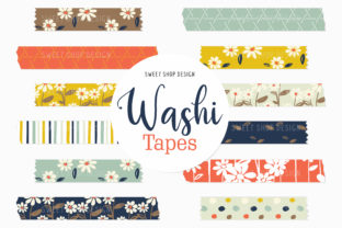 Digital Washi Tape Fresh As a Daisy Graphic Illustrations By Sweet Shop Design