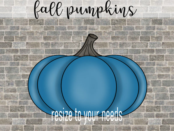 Print on Demand: Fall Pumpkins in 4 Colors Graphic Illustrations By SusanTurpinDesign - Image 2