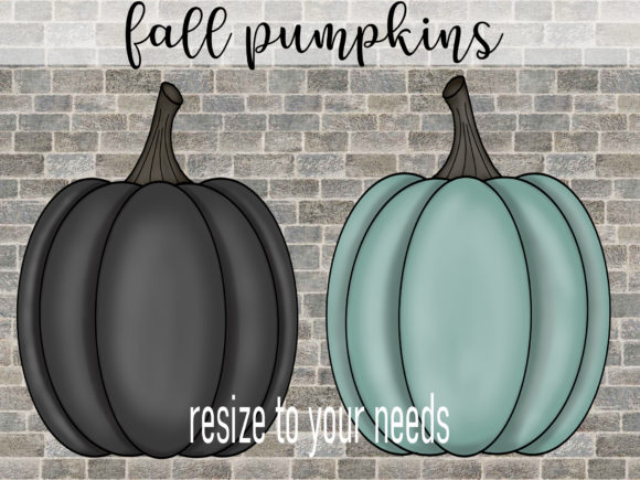 Print on Demand: Fall Pumpkins in 4 Colors Graphic Illustrations By SusanTurpinDesign - Image 3