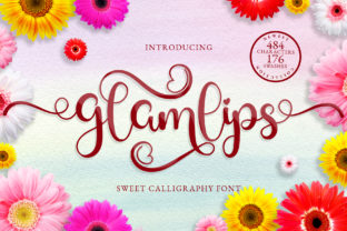 Print on Demand: Glamlips Script & Handwritten Font By airotype