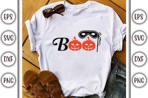 Print on Demand: Halloween Design, BOO! Graphic Print Templates By GraphicsBooth