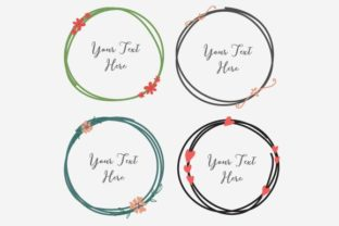 Hand Drawn Round Frame Clipart Graphic Objects By OneyWhyStudio