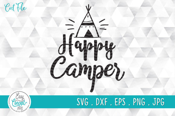 Happy Camper Graphic Crafts By EasyConceptSvg