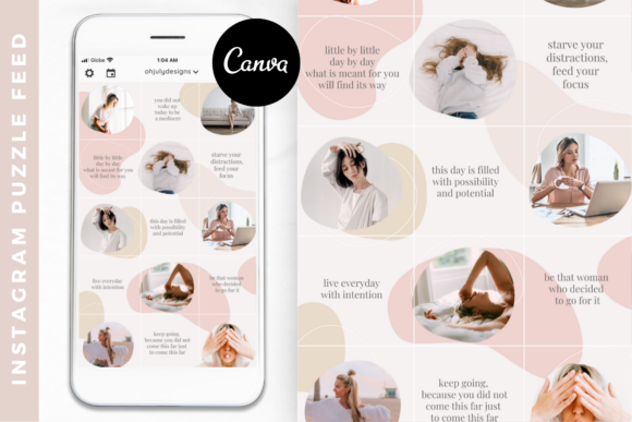 Instagram Puzzle Feed Templates Canva Graphic Graphic Templates By Oh July