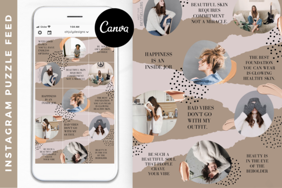 Instagram Template Canva Puzzle Feed Graphic Graphic Templates By Oh July