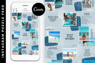 Instagram Templates, Puzzle Feed Canva Graphic Graphic Templates By Oh July