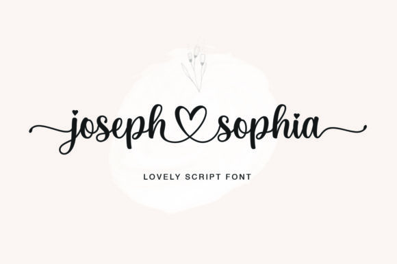 Print on Demand: Joseph Sophia Script & Handwritten Font By fargunstudio