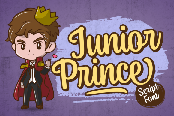 Print on Demand: Junior Prince Script & Handwritten Font By brithostype