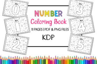Print on Demand: KDP Number Coloring Book for Kids Graphic Coloring Pages & Books Kids By Miss Cherry Designs