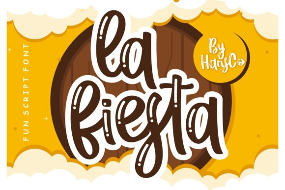 Print on Demand: La Fiesta Script & Handwritten Font By HansCo
