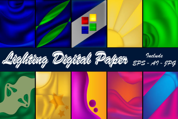 Print on Demand: Lighting Digital Peper Graphic Patterns By Mahesa Design