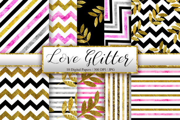 Love Glitter Background Digital Papers Graphic Backgrounds By PinkPearly