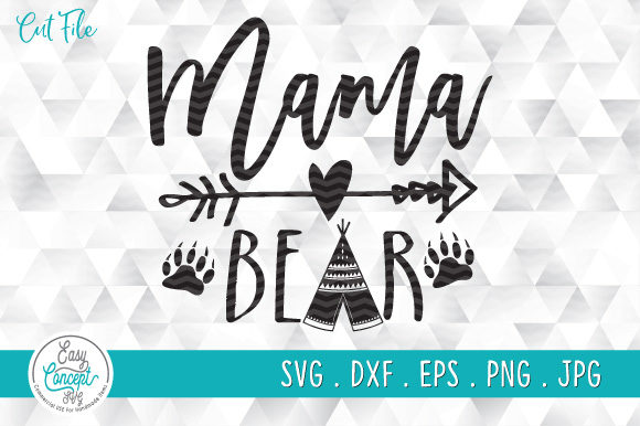 Mama Bear, Mother's Day Graphic Crafts By EasyConceptSvg