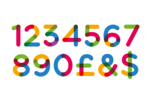 Print on Demand: Multicolore Color Fonts Font By neogrey 3
