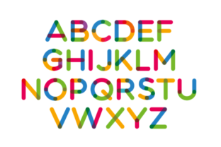 Print on Demand: Multicolore Color Fonts Font By neogrey 6