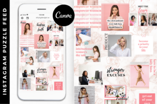Pink Instagram Puzzle Templates Canva Graphic Graphic Templates By Oh July