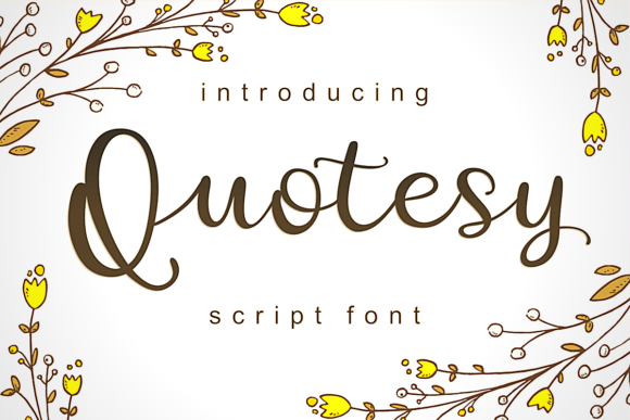 Print on Demand: Quotesy Script & Handwritten Font By estede75