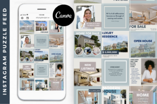 Realtor Instagram Puzzle Template Canva Graphic Graphic Templates By Oh July