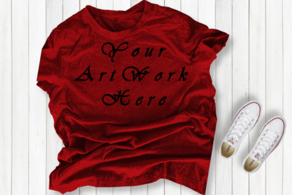 Red T-shirt Mockups , Red Mock Up Graphic Product Mockups By Mockup Shop