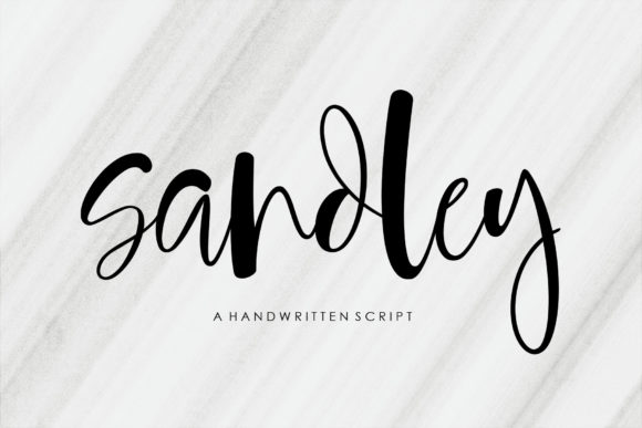 Print on Demand: Sandley Script & Handwritten Font By JhoelDesign