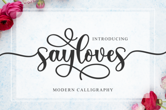 Print on Demand: Sayloves Script & Handwritten Font By kammaqsum