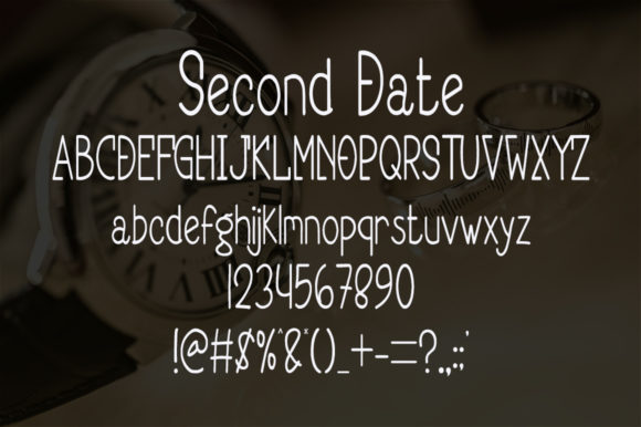 Second Date Font Preview