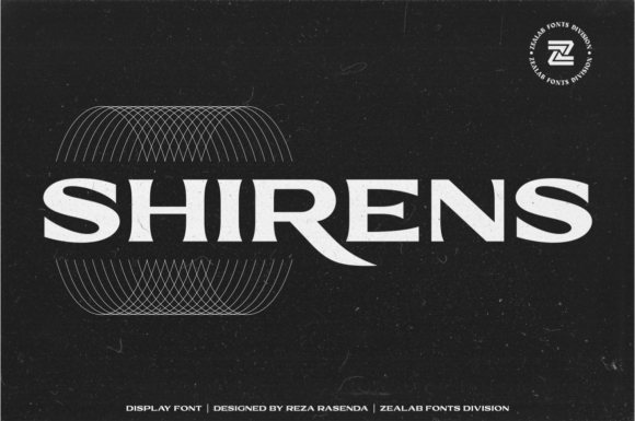 Print on Demand: Shirens Display Font By zealab fonts division