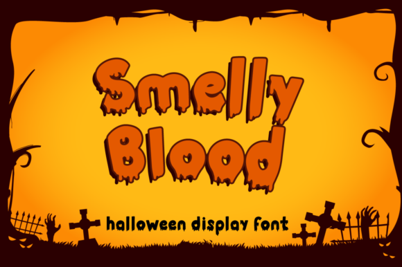 Print on Demand: Smelly Blood Display Font By attypestudio