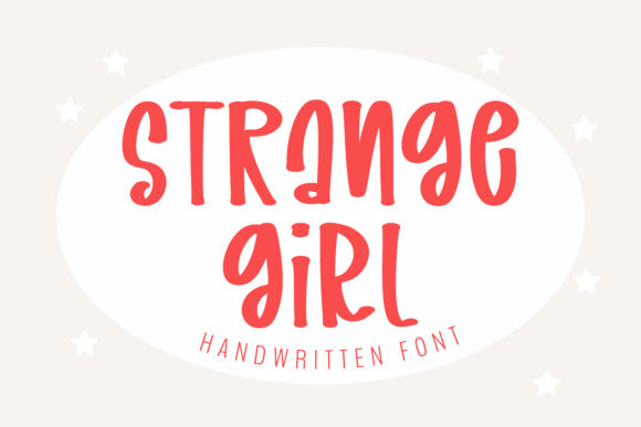 Print on Demand: Strange Girl Manuscrita Fuente Por BitongType