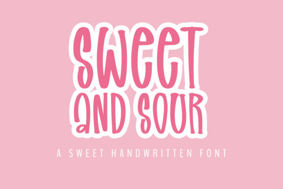 Print on Demand: Sweet and Sour Script & Handwritten Font By BitongType