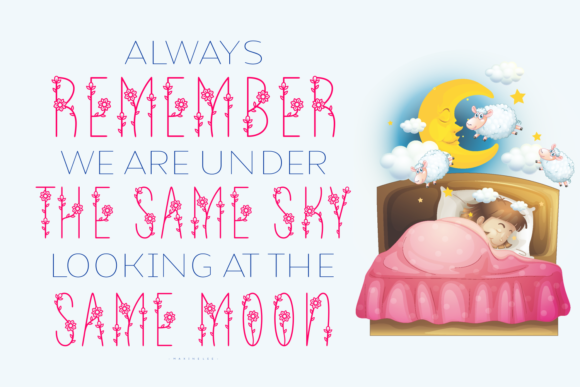Take Me to the Moon Font Design