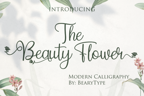 Print on Demand: The Beauty Flower Script & Handwritten Font By LetterBeary