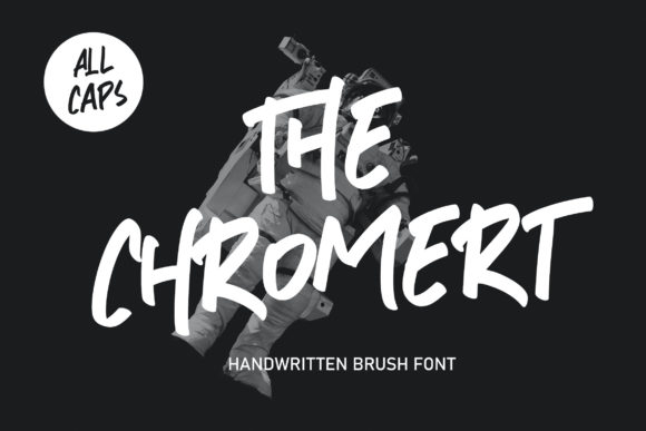 Print on Demand: The Chromert Display Font By Alit Design