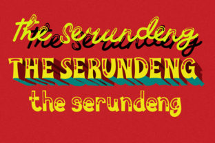 Print on Demand: The Serundeng Display Font By brnk1314