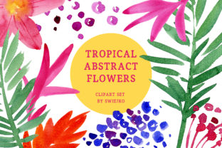 Print on Demand: Tropical Abstract Flowers Graphic Illustrations By swiejko