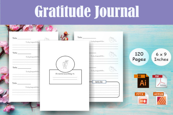 Unicorn Gratitude Journal - KDP Interior Graphic KDP Interiors By Sei Ripan