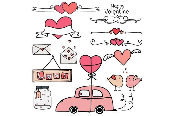 Valentine Clipart Graphic Objects By OneyWhyStudio