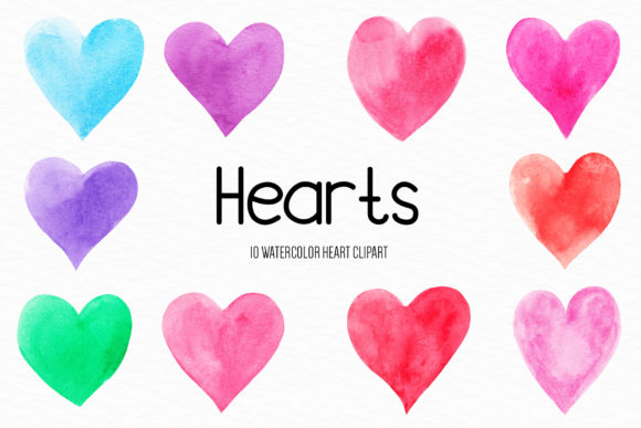 Watercolor Heart Illustration Graphic Illustrations By BonaDesigns