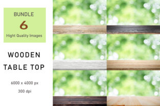 Print on Demand: Wooden Table Top Digital Backdrop Graphic Backgrounds By iJStudio