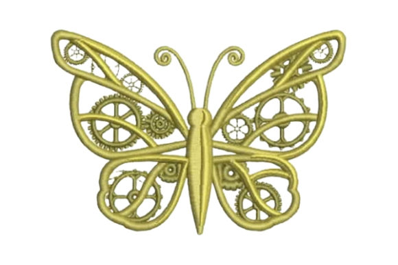 free mechanical butterfly embroidery design