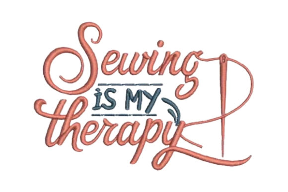 free sewing is my therapy embroidery design