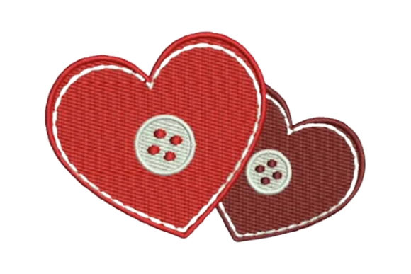 free stitched hearts embroidery design