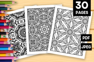 Print on Demand: 30 Abstract Pattern Coloring Set Graphic Coloring Pages & Books Adults By JM_Graphics 1