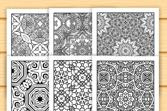 Print on Demand: 30 Abstract Pattern Coloring Set Graphic Coloring Pages & Books Adults By JM_Graphics - Image 2