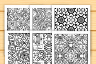 Print on Demand: 30 Abstract Pattern Coloring Set Graphic Coloring Pages & Books Adults By JM_Graphics 3