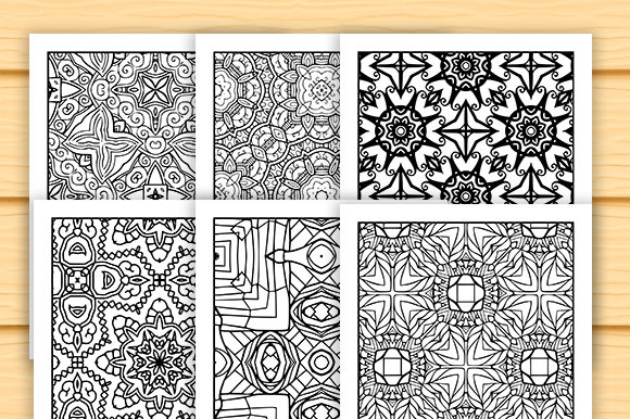 Print on Demand: 30 Abstract Pattern Coloring Set Graphic Coloring Pages & Books Adults By JM_Graphics - Image 3