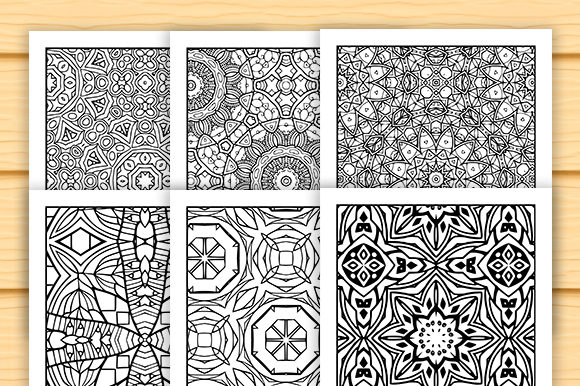 Print on Demand: 30 Abstract Pattern Coloring Set Graphic Coloring Pages & Books Adults By JM_Graphics - Image 4